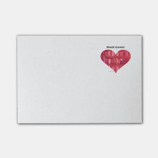 Notas Post-it® Corazón del aficionado a los libros