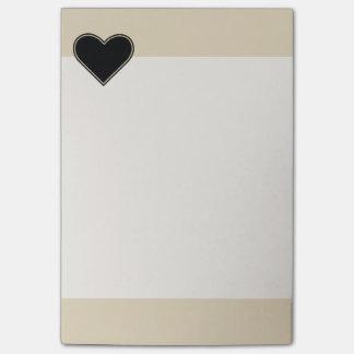 Notas Post-it® Corazón negro elegante 2