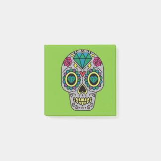 Notas Post-it® Cráneo colorido enrrollado abstracto del azúcar
