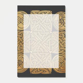 Notas Post-it® Cruz de Knotwork del Celtic