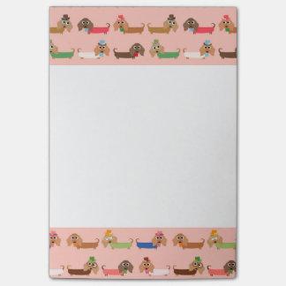 Notas Post-it® Dachshunds en rosa
