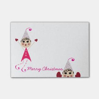 Notas Post-it® de las Felices Navidad de los duendes de