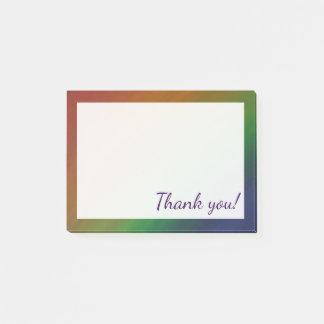 Notas Post-it® Descarado gracias favor de la bandera del orgullo