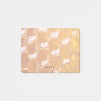 Notas Post-it® Detalle dulce del panal de oro con su nombre