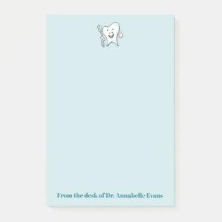 Notas Post-it® Diente y cepillo azules