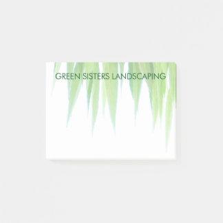 Notas Post-it® Diseño amistoso de la hoja de la tierra verde del