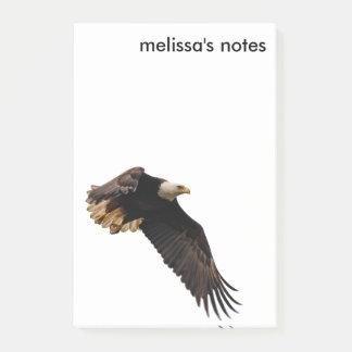 Notas Post-it® Eagle calvo lleva el cielo