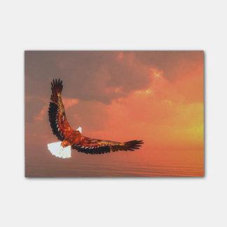Notas Post-it® Eagle que vuela al sol - 3D rinden