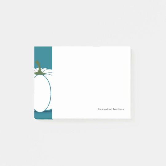 Notas Post-it® Ejemplo blanco del diseño de la calabaza de | Zazzle.es