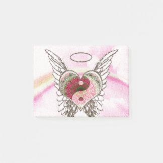 Notas Post-it® El ángel del corazón de Yin Yang se va volando la