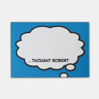 Notas Post-it® El arte pop personalizado del cómic piensa la