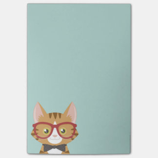 Notas Post-it® El gato anaranjado del inconformista del Tabby