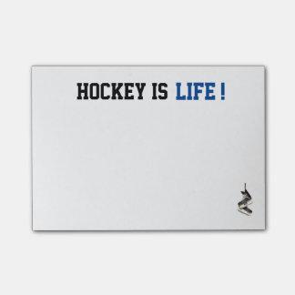 Notas Post-it® El hockey adaptable es poste de la vida que es