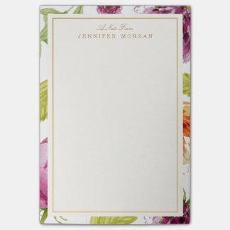 Notas Post-it® El jardín elegante de la acuarela florece el marco