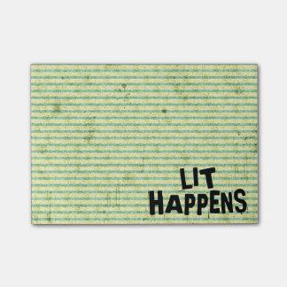 Notas Post-it® El Lit divertido del lector del escritor sucede