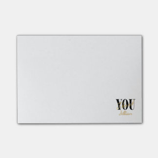 Notas Post-it® El negro, el blanco y el oro le agradecen