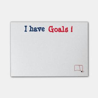 Notas Post-it® El personalizable I tiene poste de las metas que