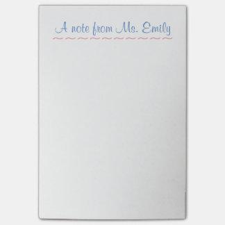 Notas Post-it® El Poste-it® del profesor observa 4 x 6