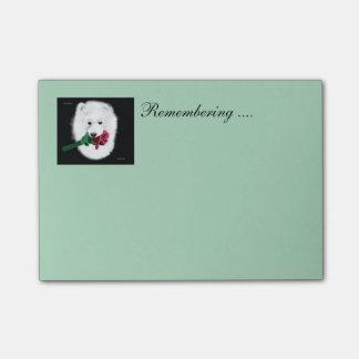 Notas Post-it® El Poste-it® del samoyedo observa 4 x 3; ¡Recordar