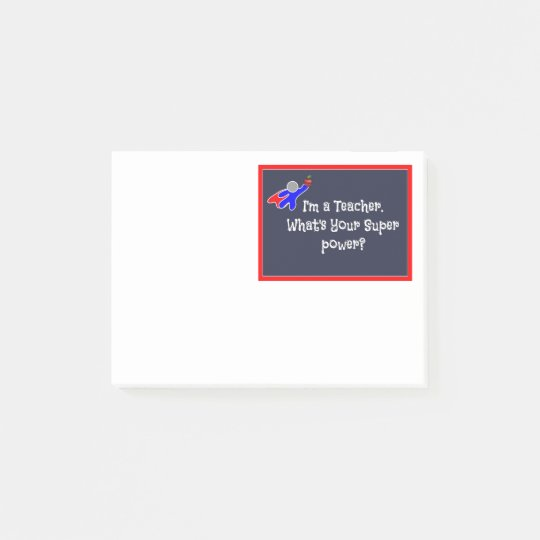 Notas Post-it® El Poste-it® del superhéroe del profesor observa 4