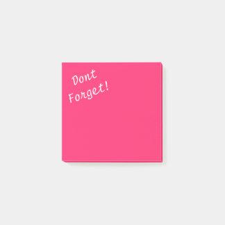 Notas Post-it® El rosa impactante Fruncido-Caliente rosado no