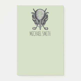 Notas Post-it® El verde personalizó el regalo del golfista del