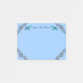 Notas Post-it® Elefante de la alheña (azul/azul claro)