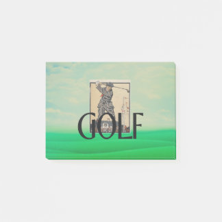 Notas Post-it® Escuela vieja del golf SUPERIOR