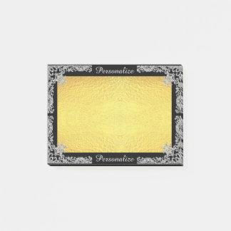 Notas Post-it® Falso brillo adaptable y oro