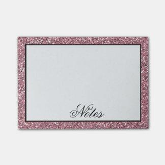 Notas Post-it® Falso brillo rosado