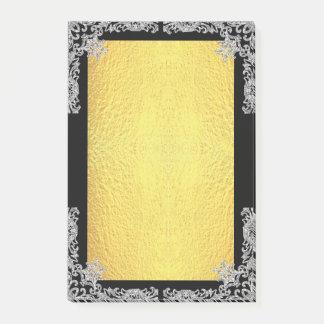Notas Post-it® Falso brillo y oro