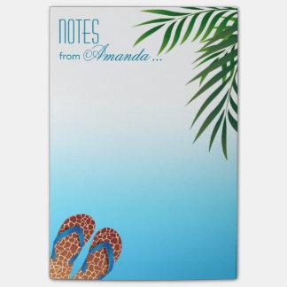 Notas Post-it® Flips-flopes de la playa personalizados