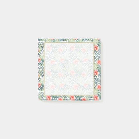 Notas Post-it® Floral tribal del hibisco tropical