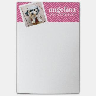 Notas Post-it® Foto con nombre del personalizado del modelo de