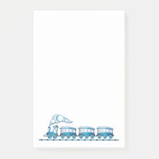 Notas Post-it® Fute poco tren azul del juguete