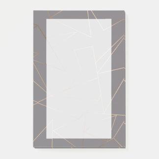 Notas Post-it® Geométrico minimalista moderno elegante del falso
