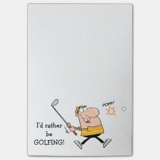 Notas Post-it® Golfista del dibujo animado