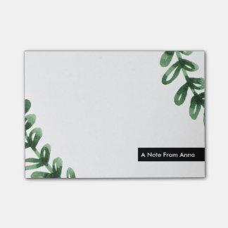 Notas Post-it® Guirnalda del laurel de la acuarela personalizada