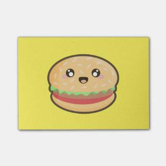 Notas Post-it® Hamburguesa de Kawaii