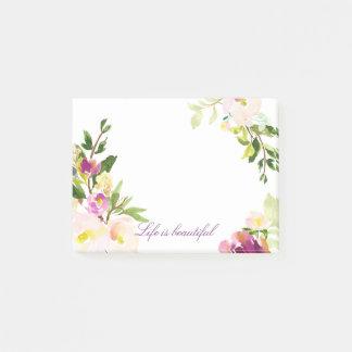 Notas Post-it® Hermoso floral de la acuarela
