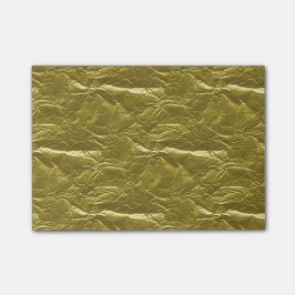 Notas Post-it® Hoja de oro
