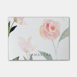 Notas Post-it® Hola acuarela hermosa floral