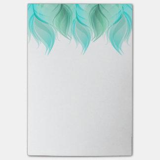 Notas Post-it® La acuarela empluma moderno