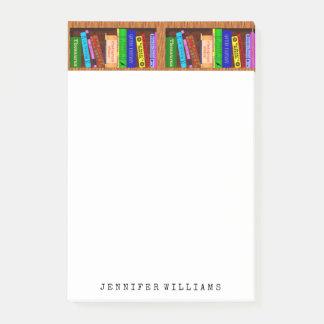 Notas Post-it® La biblioteca reserva al escritor del profesor de