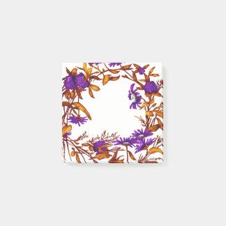Notas Post-it® La guirnalda floral de la flor planta la