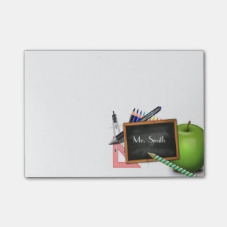 Notas Post-it® La pizarra del profesor personalizado