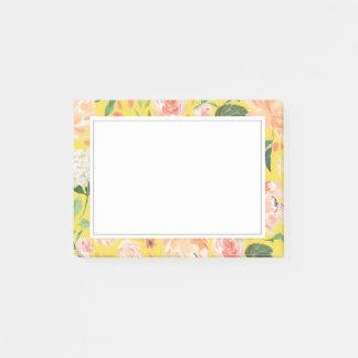 Notas Post-it® La primavera se ruborizan y el amarillo floral de