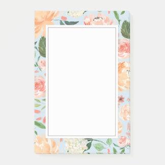 Notas Post-it® La primavera se ruborizan y el azul floral de la