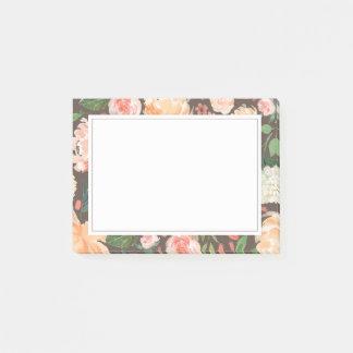 Notas Post-it® La primavera se ruborizan y el gris floral de la