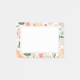 Notas Post-it® La primavera se ruborizan y el hogar floral de la